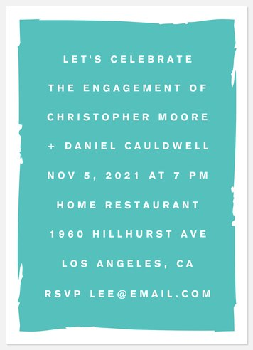 Modern Typography Engagement Party Invitations