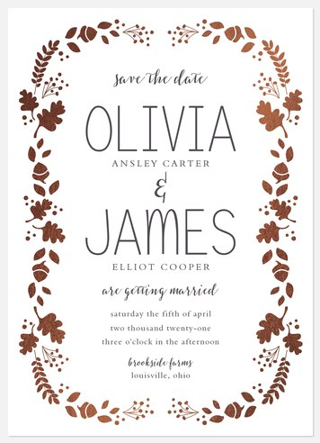 Luminous Foliage Save the Date Photo Cards