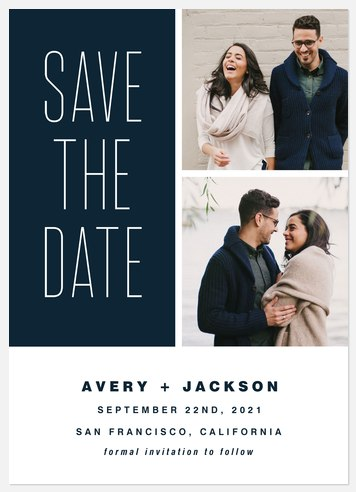 Beautiful Moments Save the Date Photo Cards
