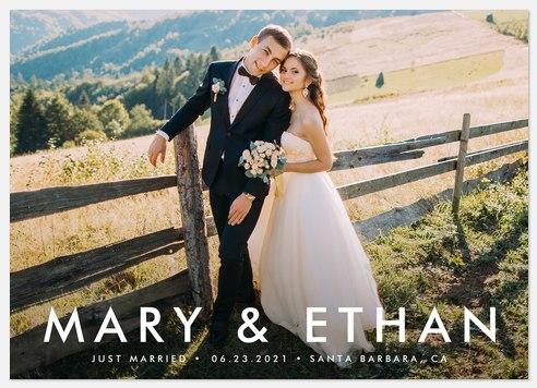 Beautiful Beginning Wedding Announcements