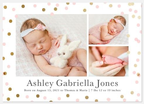 Confetti Announcement Baby Birth Announcements