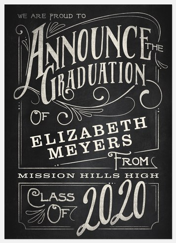Typographic Chalkboard