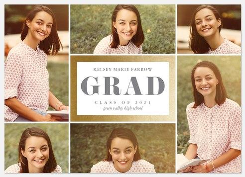 Glam Grid Graduation Cards