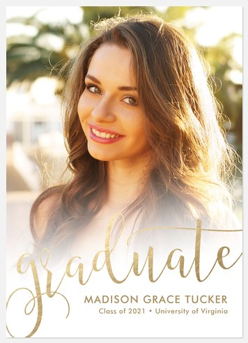 Golden Calligraphy Graduation Cards