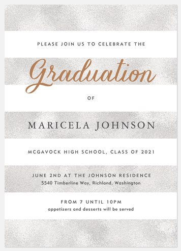 Iridescent Stripes Graduation Cards
