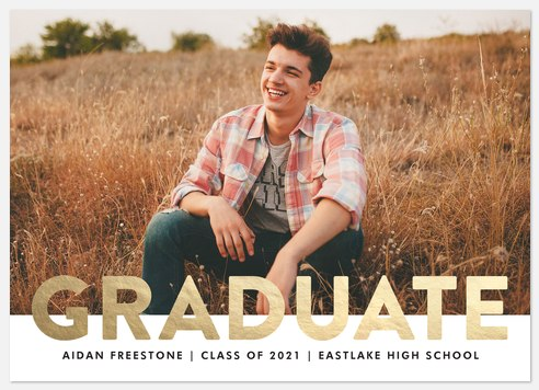 Bold Gold Graduation Cards