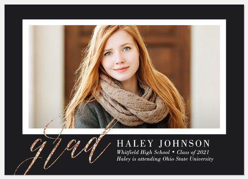 Glistening Grad Graduation Cards