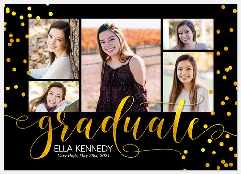 Gilded Confetti Graduation Cards