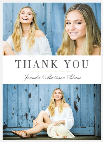 Elegant Band Thank You Cards