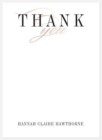 Simple Class Thank You Cards