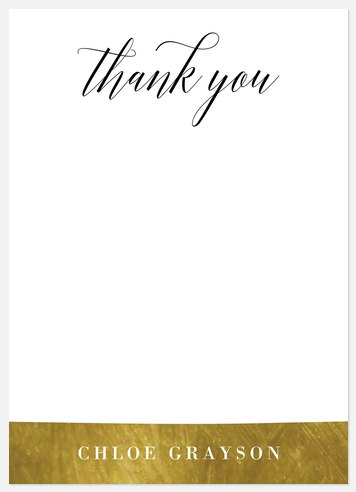 Gilded Stripes Thank You Cards