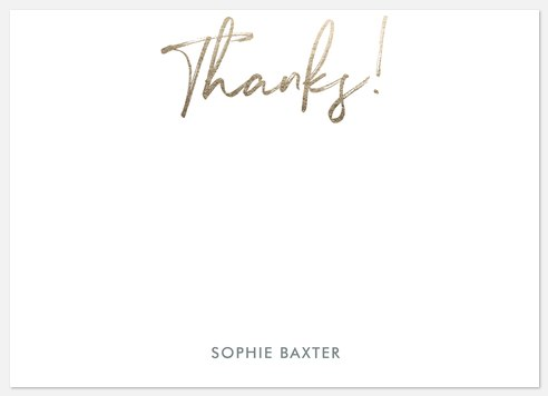 Shimmering Thanks Thank You Cards