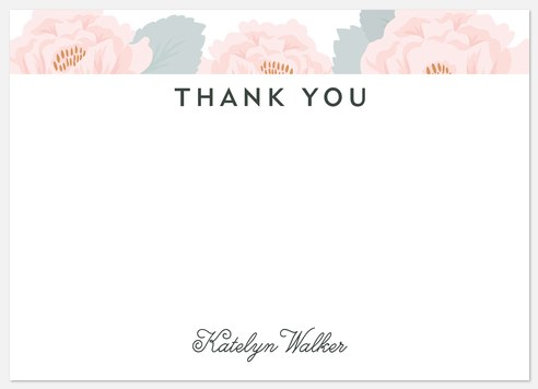 Spring Bouquet Thank You Cards