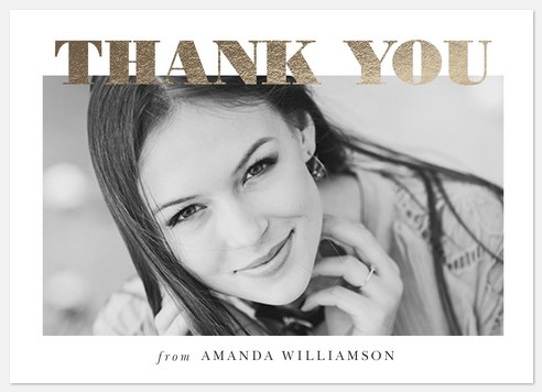 Lustrous Year Thank You Cards