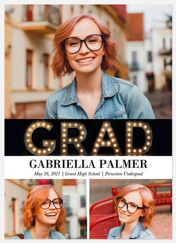 Marquee Grad Graduation Cards