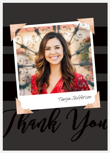 Snapshot Graduate Thank You Cards