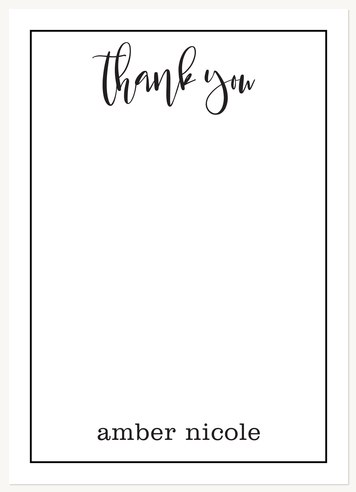 Thank You Cards , Chic Appreciation Design
