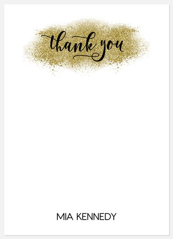 Sparkling Academic Thank You Cards