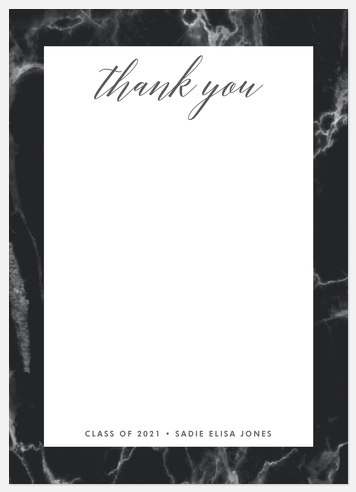 Marbled Inspiration Thank You Cards
