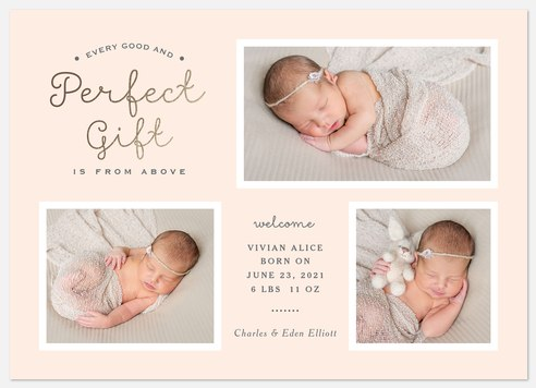 Heavenly Gift Baby Birth Announcements