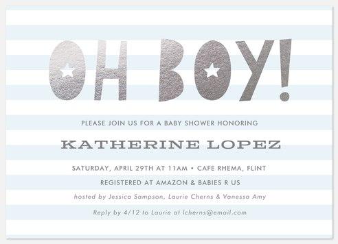 Stellar Shower Baby Shower Invitations