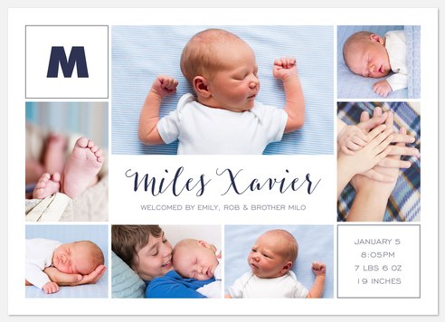 Spirited Gallery Baby Birth Announcements