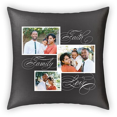 Faith Family Love Custom Pillows