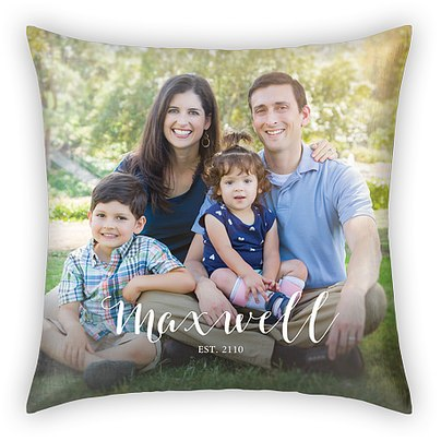 Charming Script Custom Pillows