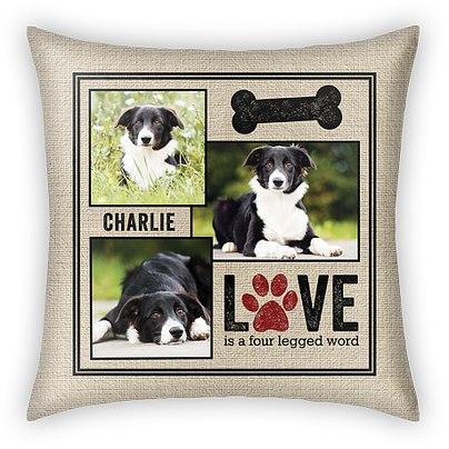 Four Legged Word Custom Pillows