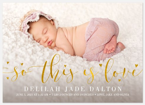 This is Love Baby Birth Announcements