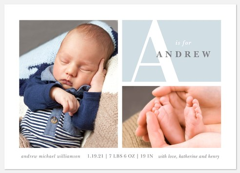 Adored Adventure Baby Birth Announcements
