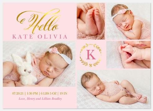 Brightest Gift Baby Birth Announcements