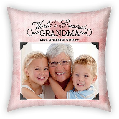 World's Greatest Grandma Custom Pillows