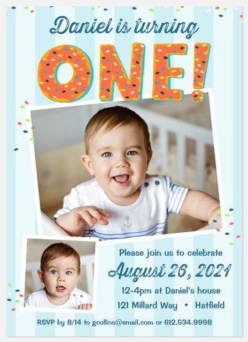 Sprinkled Donuts Kids' Birthday Invitations