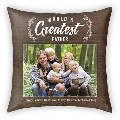 World's Greatest Father Custom Pillows