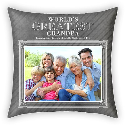 World's Greatest Grandpa Custom Pillows