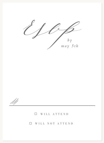 wedding rsvp cards glamorous affair - Sample Rsvp Cards