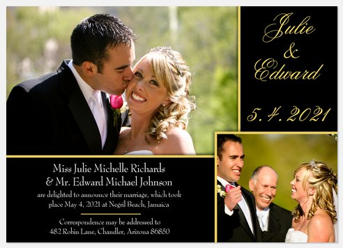 PAW111 Wedding Announcements