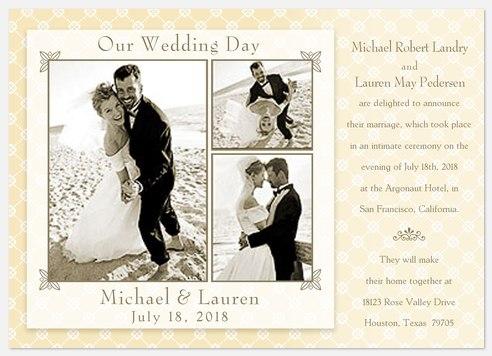 Vintage 3 Marriage Announcements