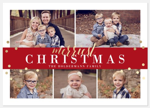 Confetti Collage Holiday Photo Cards