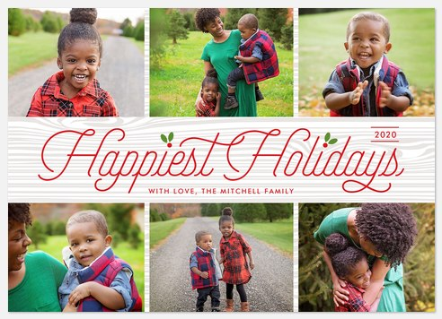 Happy Holly Berries Holiday Photo Cards