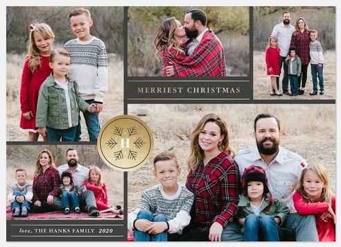 Gilded Emblem Holiday Photo Cards