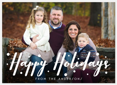 Snowy Tidings Holiday Photo Cards