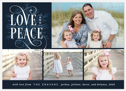 Lovely Flourish Holiday Photo Cards