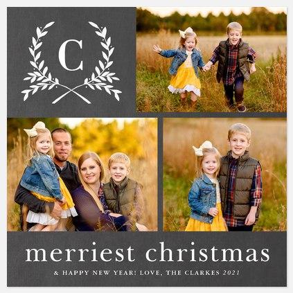 Merriest Laurels Holiday Photo Cards