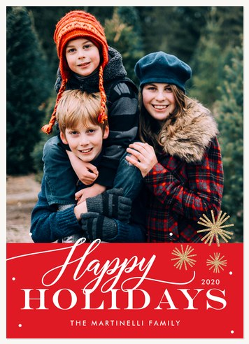 Bright Bursts Personalized Holiday Cards