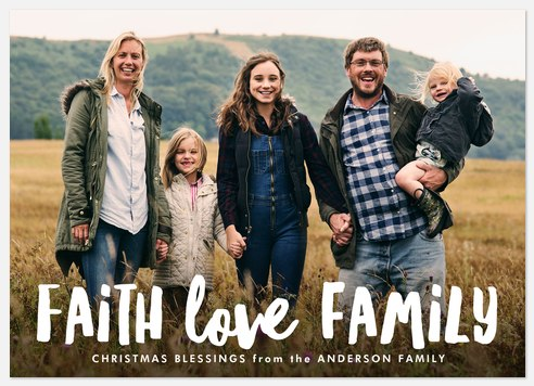 Faith, Love & Family Holiday Photo Cards