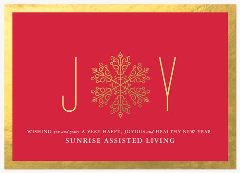 Business Holiday Cards, Radiant Joy Design