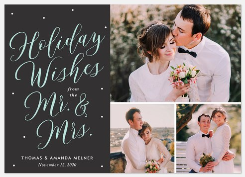 Merry Mr. & Mrs.  Holiday Photo Cards
