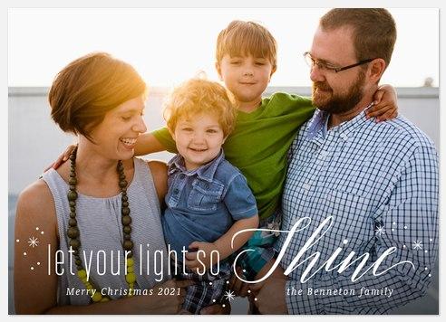 Light Shine Holiday Photo Cards